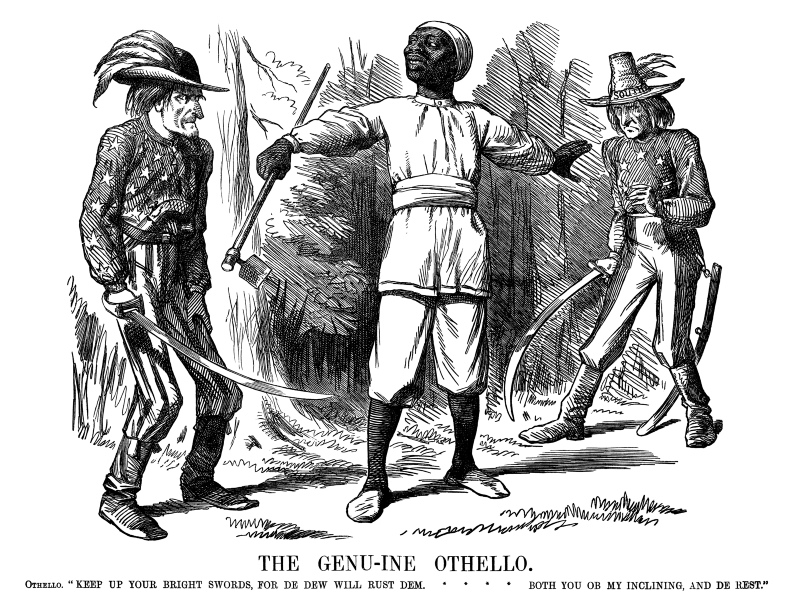 The Genu-ine Othello by John Tenniel, 1861