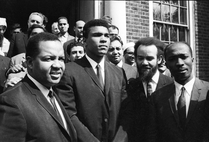 Mohammed Ali with Michael X at London Central Mosque 13 May 1966