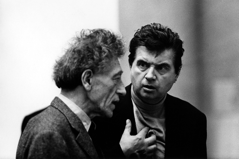 Artists Alberto Giacomettii and Francis Bacon