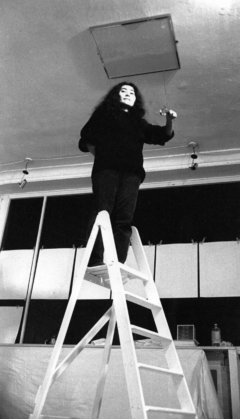 Indica Gallery, 6 Mason's Yard (off Duke Street), St James's, London, England - Yoko Ono setting up for her first European show. November 1966 Graham Keen / TopFoto